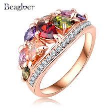 aliexpress buy beagloer new arrival ring gold aliexpress buy beagloer fashionable multi color finger rings