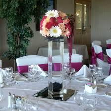 3 vases centerpieces brown bunny flowers june 2010