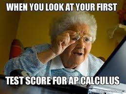 Calculus Meme - when you look at your first test score for ap calculus internet