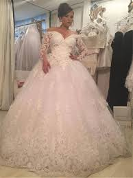poofy wedding dresses sleeve wedding dresses designer custom made tulle big poofy