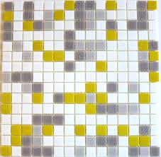 gray white and yellow blend brio mosaic glass tile city sunshine
