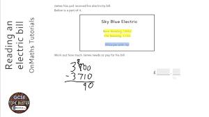 how much is a light bill operations reading an electric bill grade 2 onmaths gcse maths