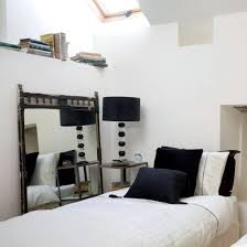 Small Table Lamp Black Bedroom Small Monochrome Bedroom With Small White Bed Also Drum