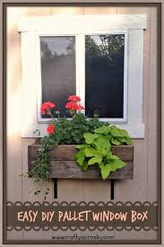 diy window flower boxes crafty in crosby easy diy pallet window box