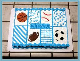 baby shower sports theme sports theme baby shower sheet cake gallery picture cake design
