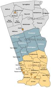 bucks county map bucks county zip code map zip code map