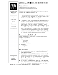 Intern Resume Examples Journalism Resumes Free Resume Example And Writing Download