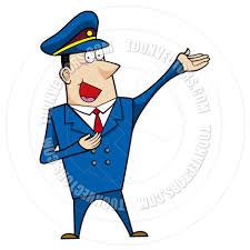 cartoon police officer man talking by totallypic com toon