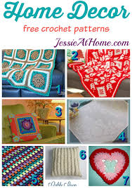 free crochet patterns for home decor free crochet home decor patterns jessie at home