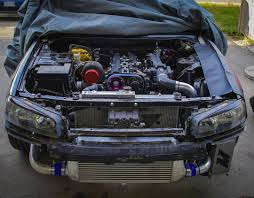 nissan skyline r34 engine nissan r34 with a 2jz gte inline six engine swaps pinterest