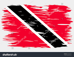 Flag For Trinidad And Tobago Flag Trinidad Tobago Painted Brush Colored Stock Vector 246026209