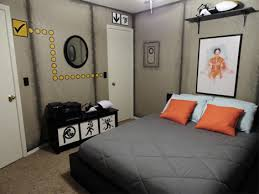 video game themed bedroom awesome portal bedroom is decorative for science