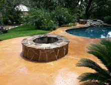 Flagstone Firepit Outdoor Pits Pictures Gallery The Concrete Network