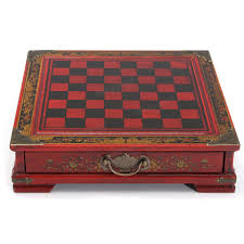 32pcs set resin chinese chess with coffee wooden table vintage