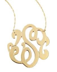 intial necklace zeuner swirly initial necklace