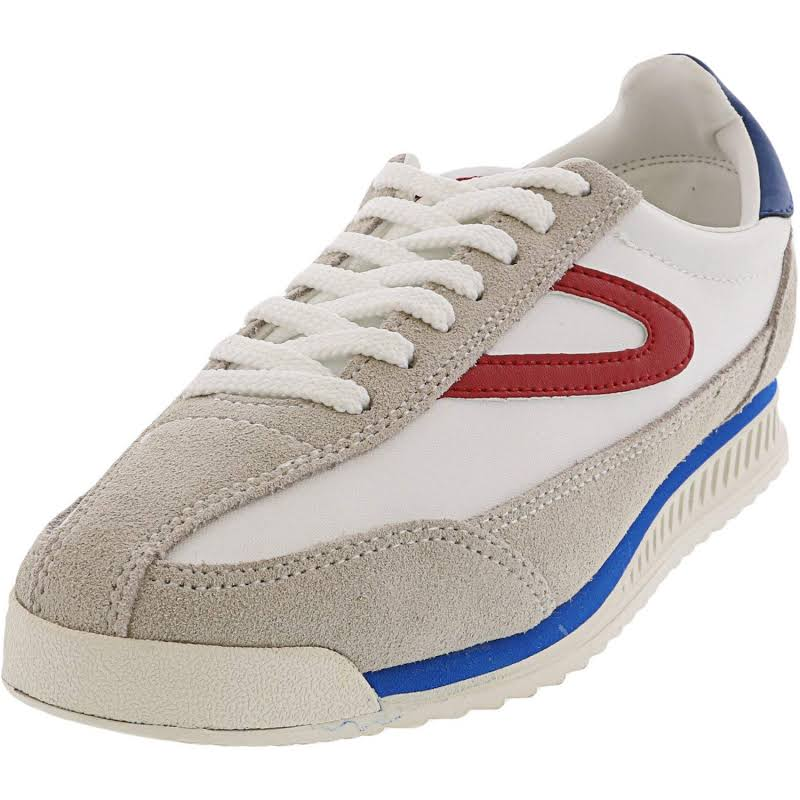 Tretorn Rawlins 2 Off White / Red Blue Low Top Suede Sneaker 8.5M