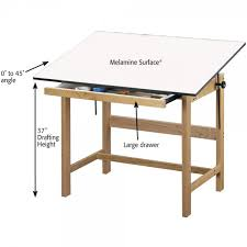 adjustable height drafting table titan solid oak drafting and drawing tables jerry s artarama