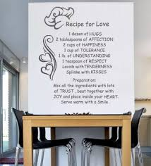 wall decal quotes vinyl letters wall sticker text recipe for