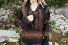 brown black baja hoodie hippies com