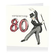 top hat 80th birthday card karenza paperie
