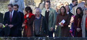 Englefield Berkshire Duchess Kate William And Kate Attend Christmas Day Service In