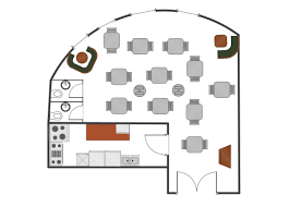 cafe and restaurant floor plan solution conceptdraw com business