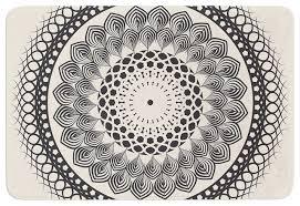 Black And White Bathroom Rugs Impressing Famenxt Black And White Boho Mandala Geometric Memory