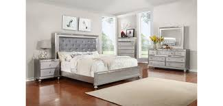 Cheap Furniture Bedroom Sets B4183 Contemporary Bedroom Set In Silver Finish