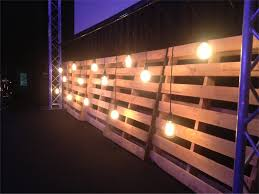 back wall stage design made of reclaimed barnwood at gwinnett