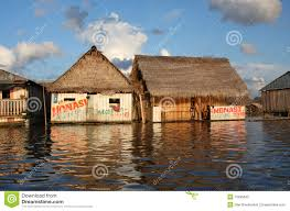 floating houses on the amazon river editorial image image 10285645
