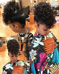 black women pin up hair do ponytail w hair on curly hair on top ponytail w curly hair on