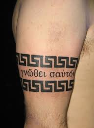 brilliant greek armband tattoo design on biceps for boys picsmine