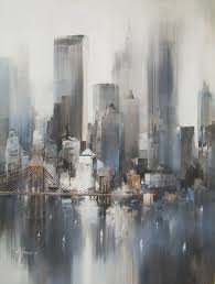 easy acrylic painting ideas abstract landscape new york paintingcity