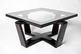 square glass top coffee table art deco style square glass top coffee table with arched x form base