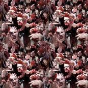 walking dead wrapping paper skeleton wallpaper dr frybrain spoonflower