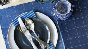 upcycle a pair jeans into a beautifully stitched place mat
