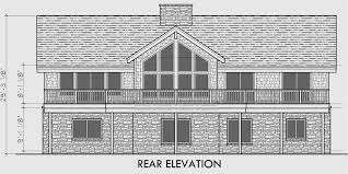 house plans with daylight basement front view house plans rear view and panoramic view house plans