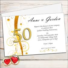 Personalised Wedding Invitation Cards 10 Personalised Golden Wedding Anniversary Invitations N2