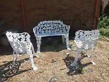 Antique Wrought Iron Outdoor Furniture by Wrought Iron Chairs Ebay