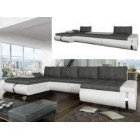 canap tissu blanc aucune futura canapé d angle droit convertible 4 places simili