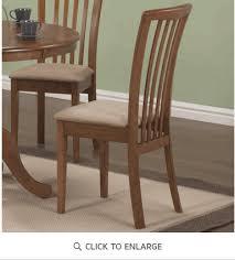 Slat Back Dining Chairs Warm Maple Slat Back Dining Chair Ashleydeals