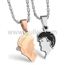 engraving necklaces couples necklaces for and boyfriend with
