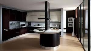 best bi colored cabinets idea feat modern curved kitchen island