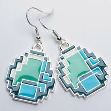 minecraft earrings minecraft diamond earrings set 849795000266 ebay