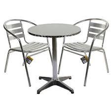 Aluminium Bistro Chairs Aluminium Lightweight Chrome Bistro Sets Square Tables