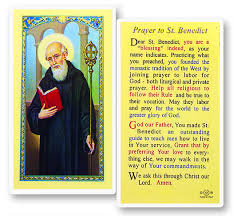 catholic gift stores prayer to benedict holy card pack of 25