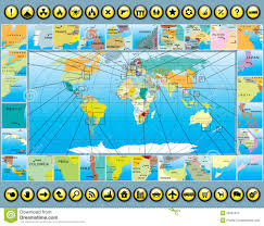 World Map Germany by Map Elements With World Map Royalty Free Stock Images Image