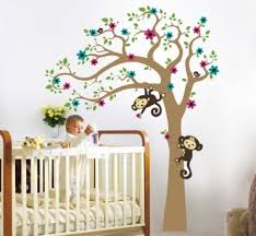 Monkey Nursery Wall Decals White Wall Decals For Babies Wallpaper Sle Great Monkey Baby