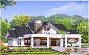 elegant bungalow elevation kerala home design and floor plans