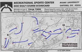 University Of Miami Map Miami University Professional Disc Golf Association
